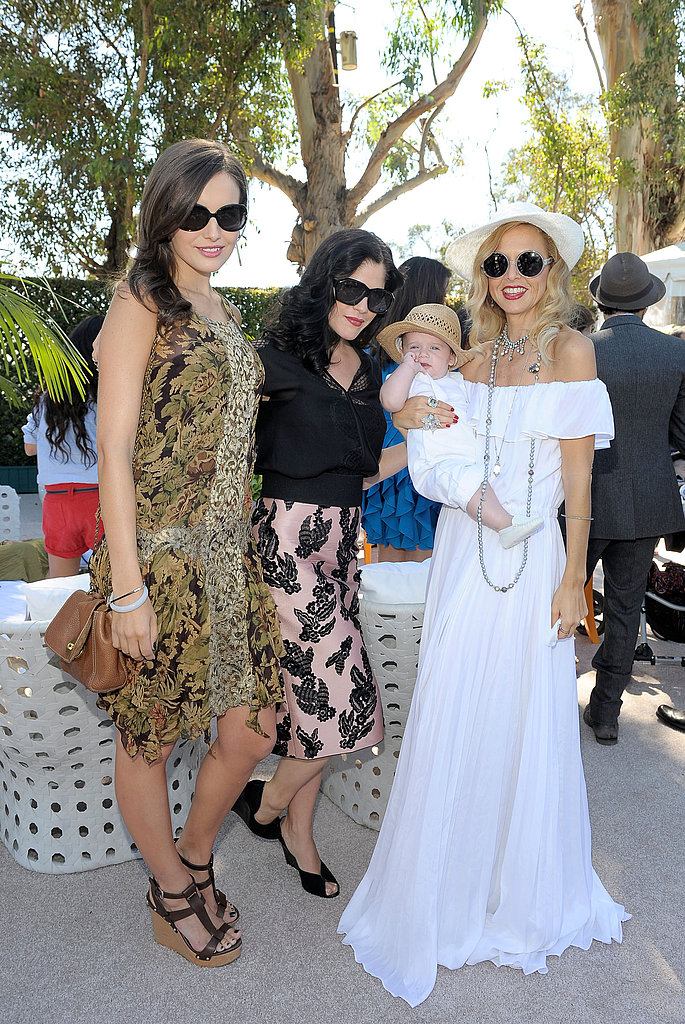 Rachel Zoe and Skyler Berman wore matching whites while hanging with Camilla Belle and Selma Blair.