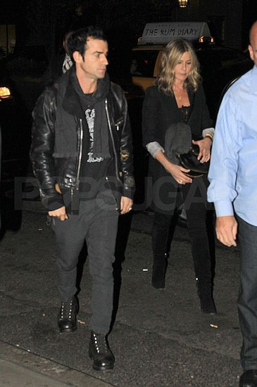 Jennifer Aniston and Justin Theroux Hit Up the SNL Afterparty For Friend Ben Stiller