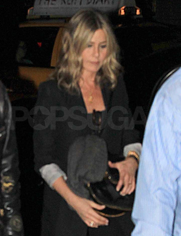 Jennifer Aniston went to a Saturday Night Live after party in NYC.