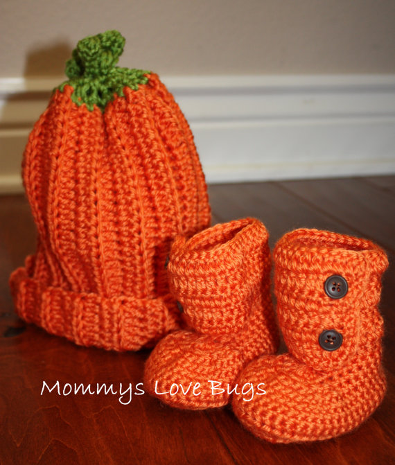 Pumpkin Hat With Matching Pumpkin Boots ($34)