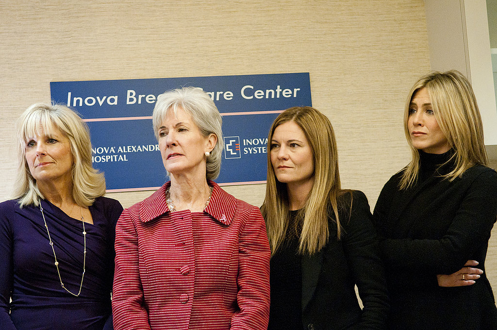 Jennifer Aniston toured the Inova Breast Care Center.