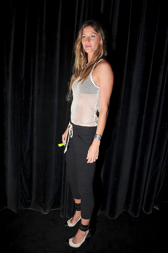 Gisele Bundchen celebrated at the Givenchy afterparty after hitting the runway for the brand.