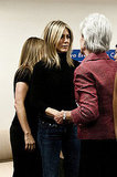 Jennifer Aniston arrived with Jill Biden.