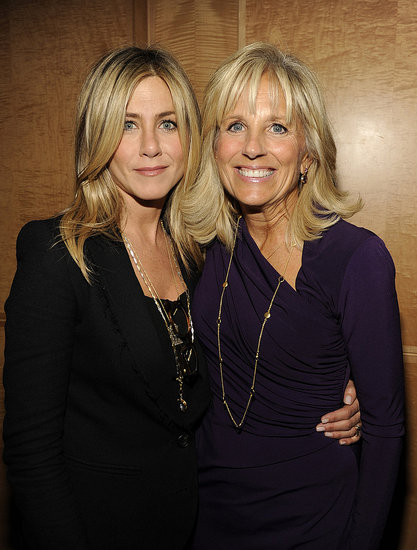 Jennifer Aniston and Dr. Jill Biden at the Washington DC premiere of Five.