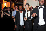 Kanye West and model Chanel Iman arrived at the Givenchy party together.