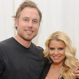 Jessica Simpson and Eric Johnson in San Francisco at Macy's