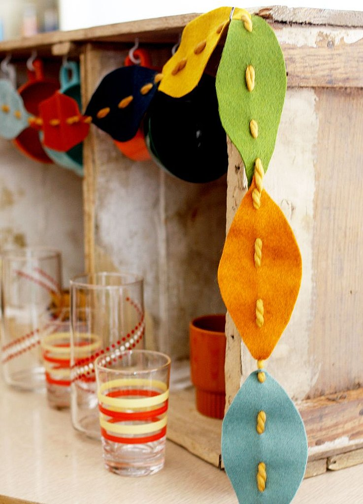 Felt Fall Leaves Garland