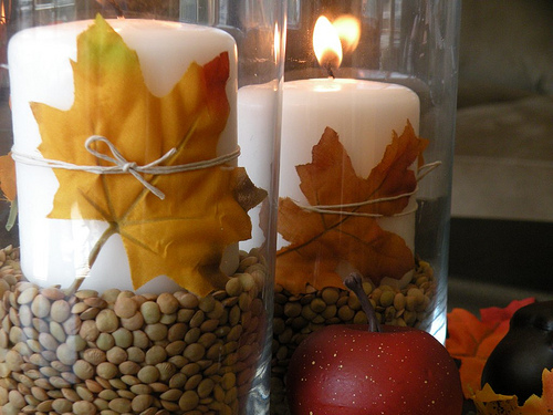 DIY Fall Table Centerpiece