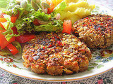 Pumpkin Seed-Crusted Lentil Patties