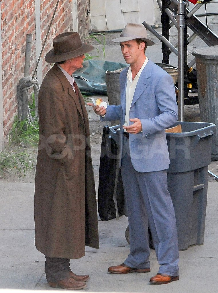Ryan Gosling kept his hat on for The Gangster Squad.