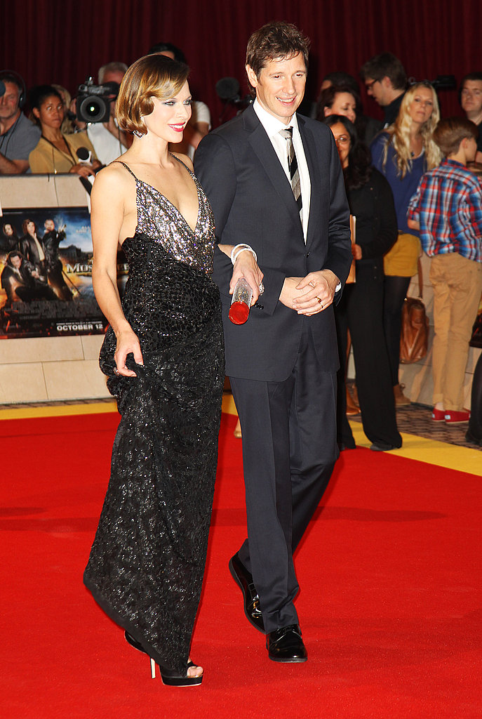 Milla Jovovich and husband Paul W.S. Anderson at the London premiere of The Three Musketeers.