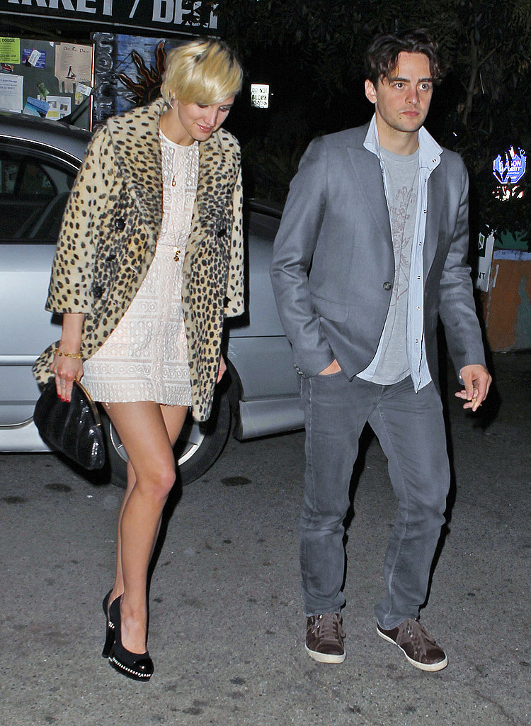Birthday girl Ashlee Simpson headed to dinner with Vincent Piazza.