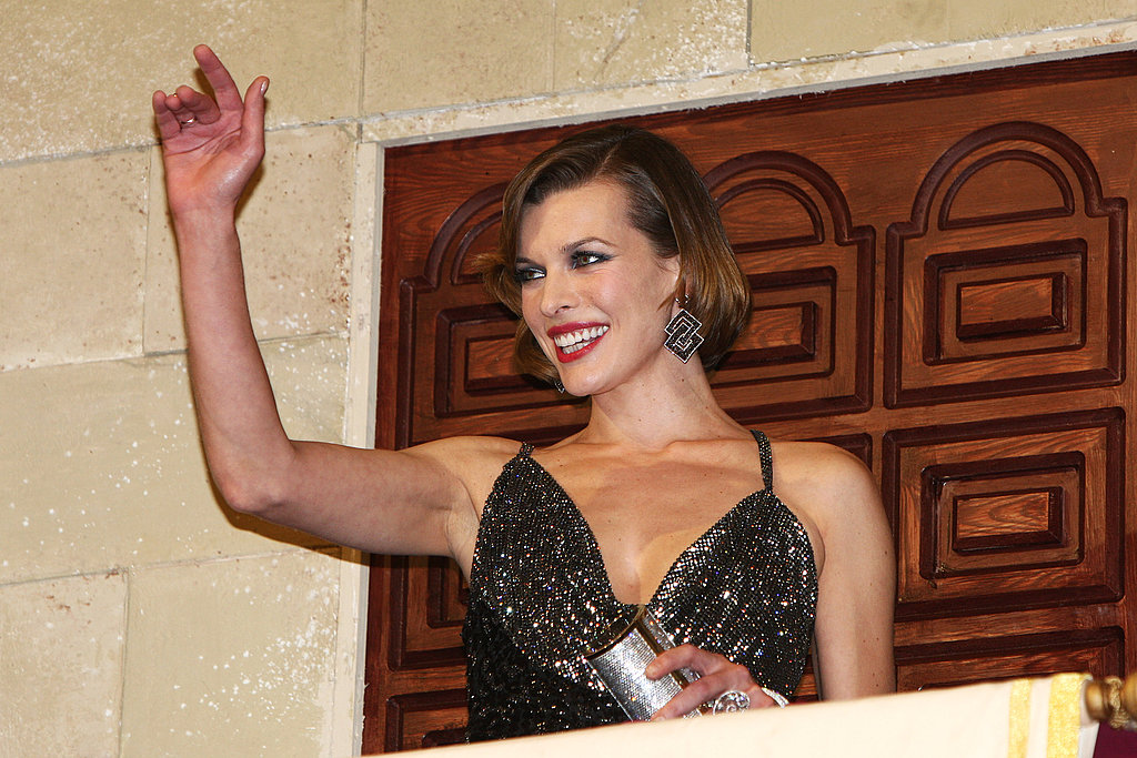 Milla Jovovich at the London premiere of The Three Musketeers.