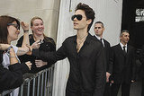 Jared Leto at Paris Fashion Week.