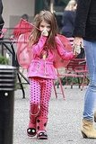 Suri Cruise was shy in Pittsburg.