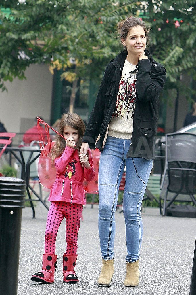 Suri Cruise and Katie Holmes spent the day together in Pittsburg.