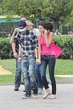 Justin Bieber and Selena Gomez walked against the Brazilian wind.