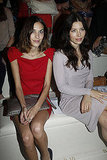Jessica Biel and Alexa Chung at Paris Fashion Week.