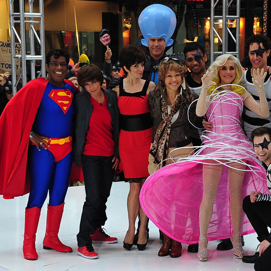Tina Fey and Will Ferrell joined the Today hosts in NYC for 2010's Halloween episode.