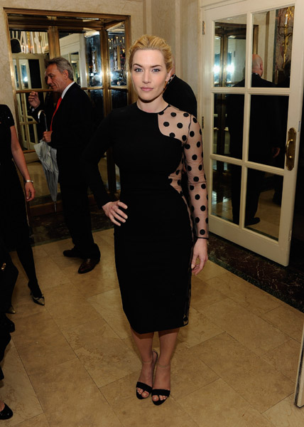 Kate Winslet  wore a daring Stella McCartney dress for the premiere of Mildred Pierce at the afterparty, held at NYC's Plaza Hotel, in March 2011.
