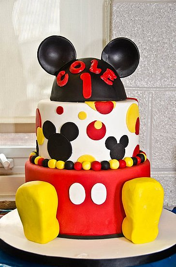 Mickey Mouse Fondant Cake