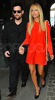 Nicole Richie in Orange Louis Vuitton Dress