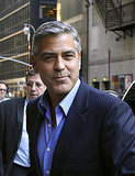 George Clooney smiled in NYC.
