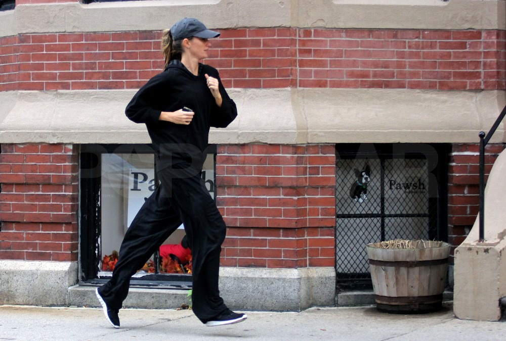 Gisele Bundchen dressed in all black for her latest gym visit.