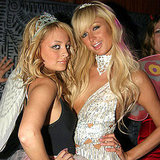 Nicole Richie and Paris Hilton struck a pose at Mariah Carey's NYC costume party in 2004.