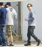 Tobey Maguire stepped off a plane in Queensland, Australia.