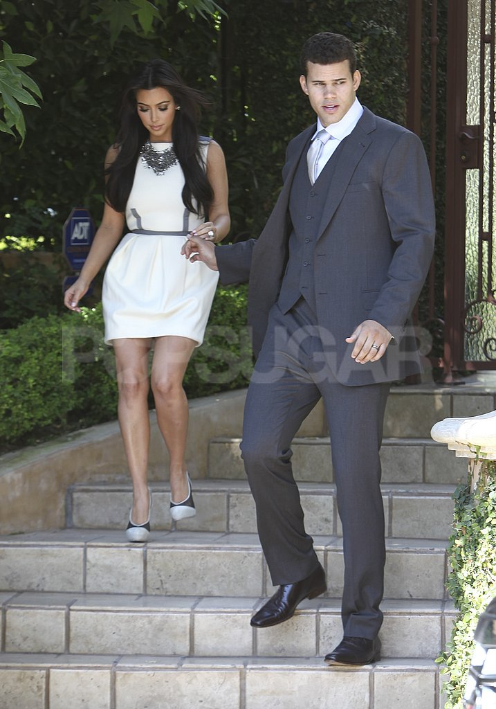 Kim Kardashian and Kris Humphries headed to a taping of Jay Leno.