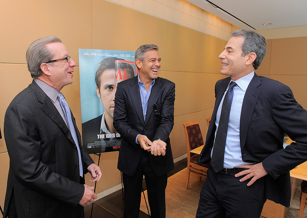 George Clooney met with Time magazine's Rick Stengel and John Huey.