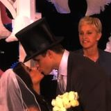 Video of Kim Kardashian and Kris Humphries Renewing Wedding Vows on The Ellen Show