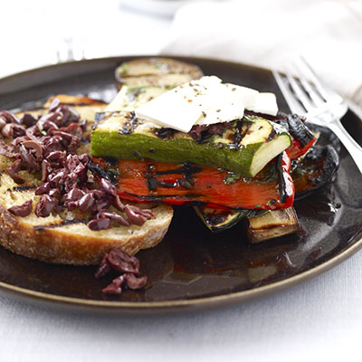 Grilled Ratatouille With Ricotta