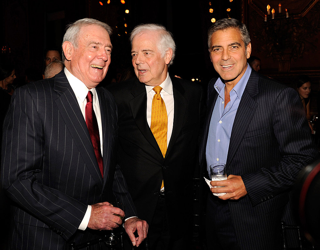 Dan Rather, Nick Clooney, and George Clooney at The Metropolitan Club following the premiere of The Ides of March.