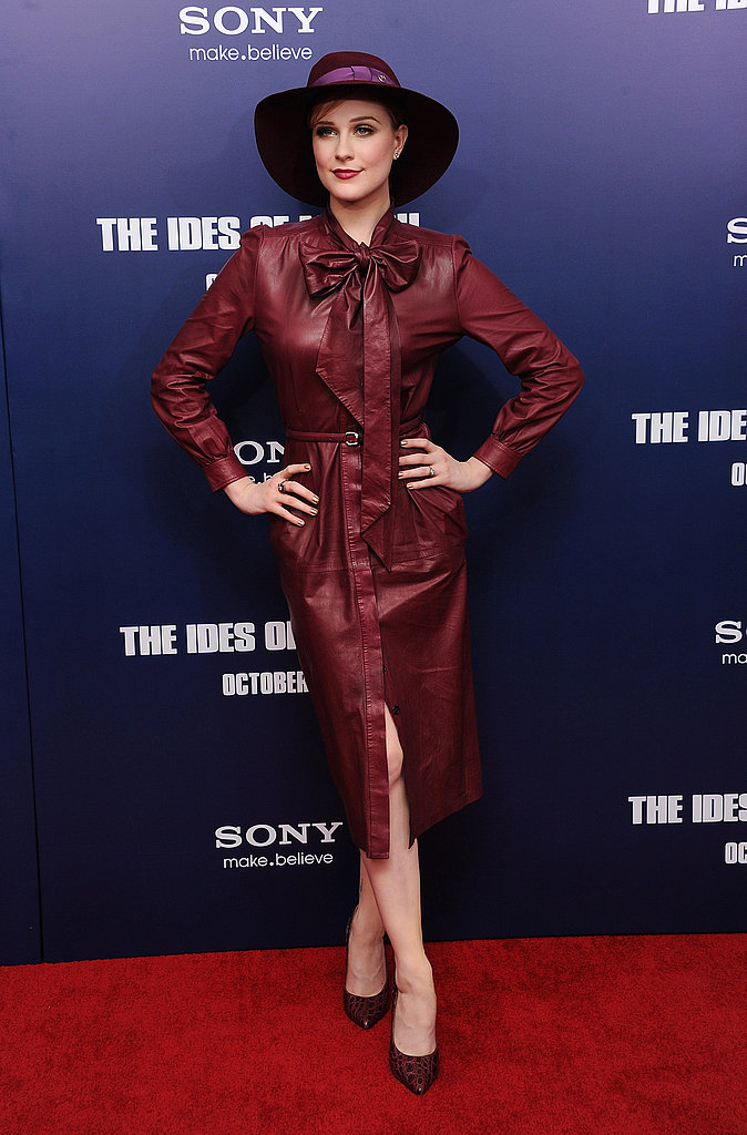 Evan Rachel Wood posed for photographers at The Ides of March premiere