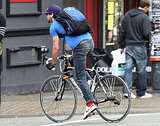 Shia LaBeouf went for a bike ride in Vancouver.