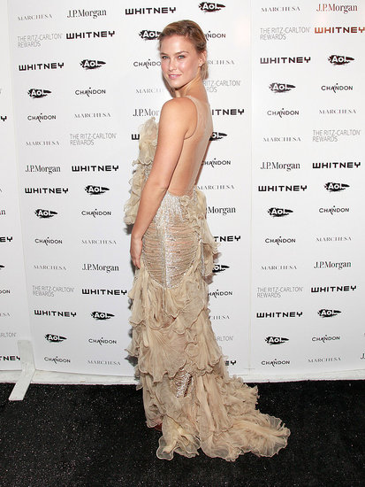 Bar Refaeli showed off her backless dress in NYC.