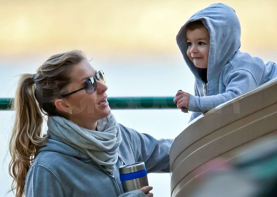Gisele Trades Model For Mom Duty During a Day at the Park With Benjamin