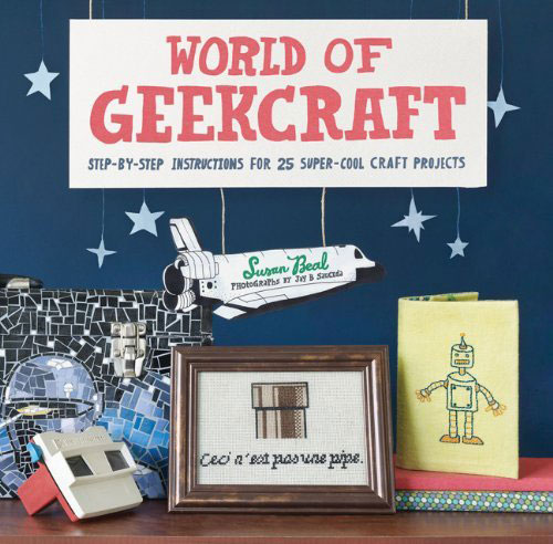 World of Geekcraft ($20) is not your usual crafting book. With 25 projects including Star Wars terrariums, Super Mario-inspired cross-stitch, and a Wii holster, there's something for geeks of very craft level.