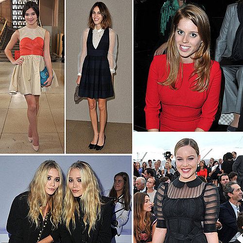 Front Row Celebrity Pictures at 2011 Spring Paris Fashion Week with Kate Moss, Alexa Chung, Princess Beatrice