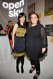 Perrey Reeves and Melissa McCarthy at the second annual Art Mere/Art Pere Night at Smashbox West Hollywood.