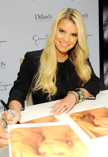 Jessica Simpson signed headshots in New Orleans.