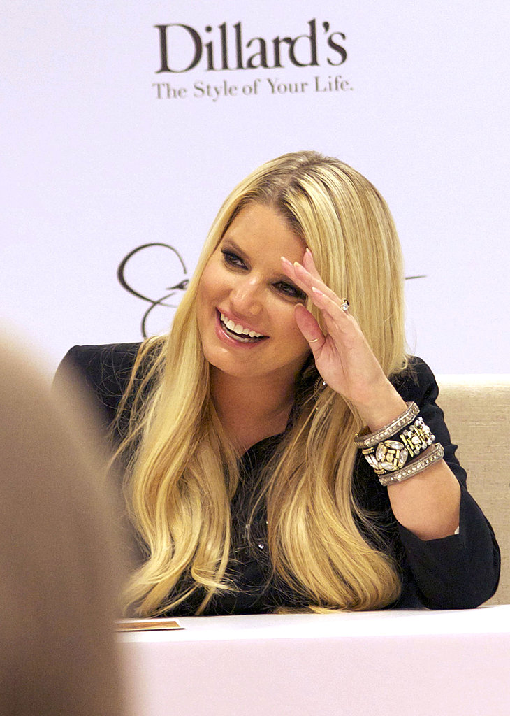 Jessica Simpson smiled at an appearance in New Orleans.