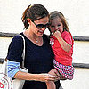 Pregnant Jennifer Garner and Seraphina Affleck Pictures