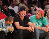 Matt Damon cheered on the Celtics at the Staples Center earlier in January 2011.