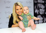 Jessica Simpson posed with a baby in New Orleans.