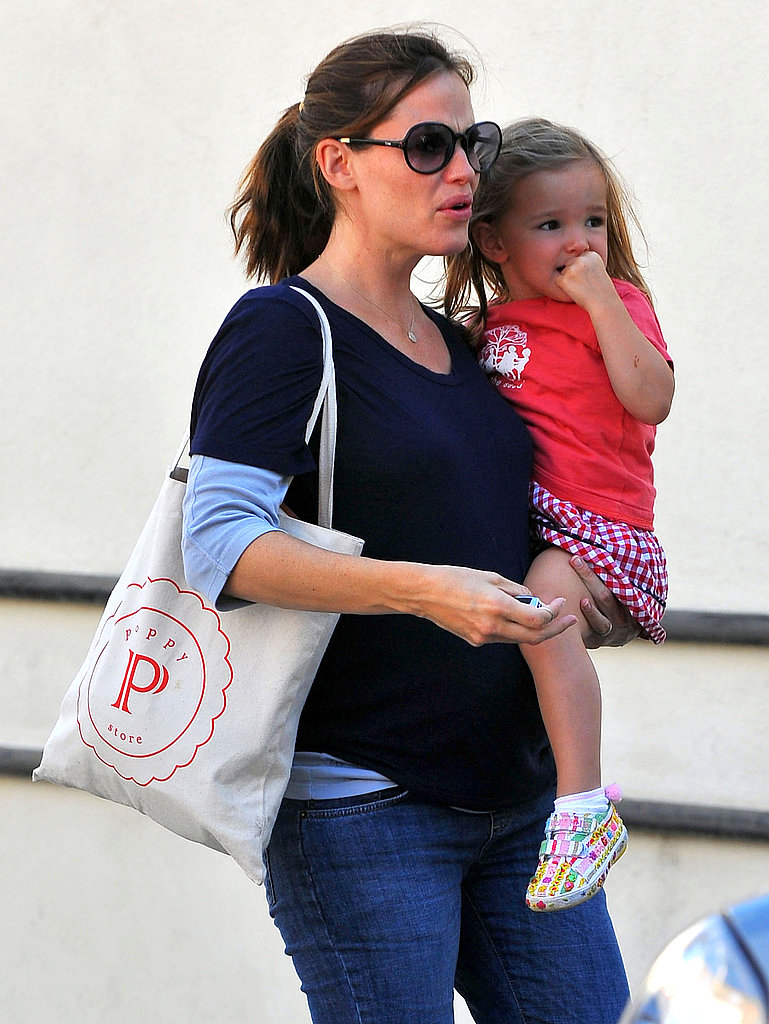 Jennifer Garner was out with Seraphina Affleck and her growing baby bump in LA.