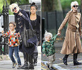 Gwen Stefani Pictures at London Park With Kingston and Zuma Rossdale