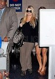 Jessica Simpson arrived back home at LAX.